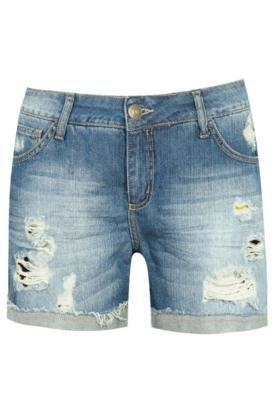 Bermuda Jeans Triton Freja Puídos Azul