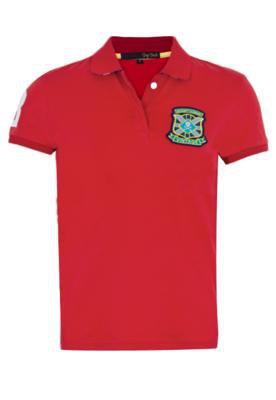 Camisa Polo Pop Touch Rugby League Vermelha