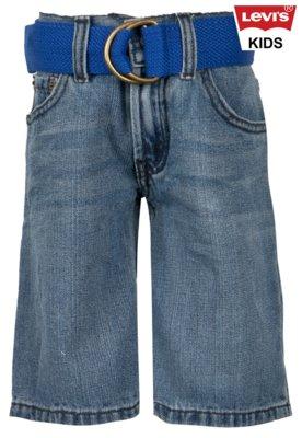 Bermuda Jeans Levis Kids Menino 505 Azul