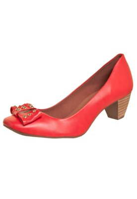 Sapato Scarpin Anna Flynn Laço Vermelho