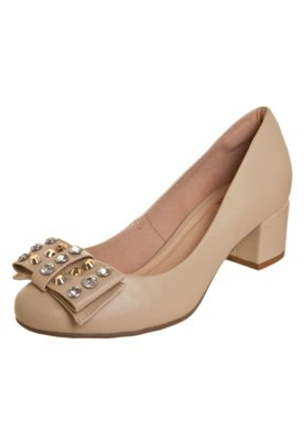 Sapato Scarpin Pink Connection Glam Bege