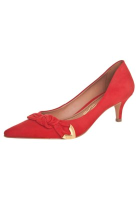 Sapato Scarpin Santa Lolla Nobuck Vermelho