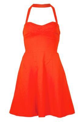 Vestido Shop 126 Recortes Laranja