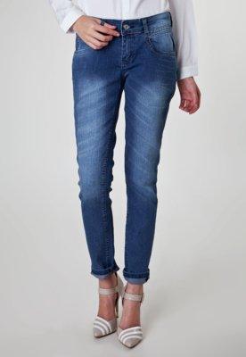 Calça Jeans Reta Anna Flynn University Azul