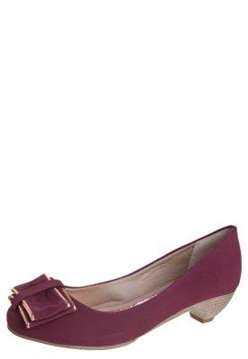 Sapato Scarpin Anna Flynn Laço Vinho