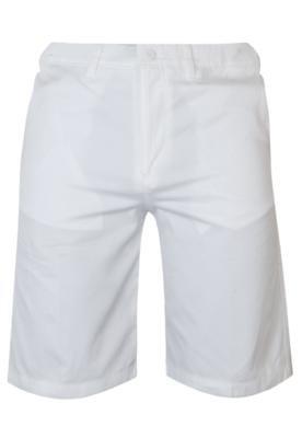 Bermuda Sarja Lacoste Bordado Branco
