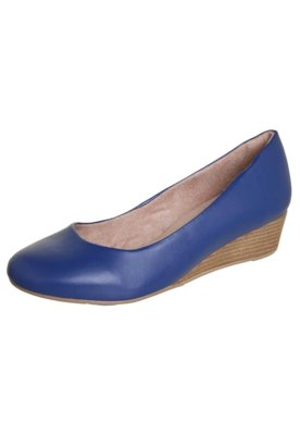 Sapato Scarpin Malu Super Comfort Unic Azul