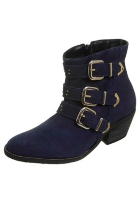 Ankle Boot Fivelas e Tachas Azul - FiveBlu