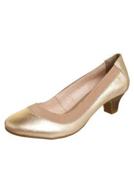 Sapato Scarpin Bottero Salto Baixo Elástico Dourado