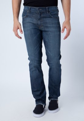 Calça Jeans Ellus Reta Birds Azul