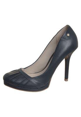 Sapato Scarpin Drapeado Azul - Capodarte
