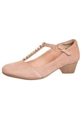 Sapato Scarpin Dayflex Salto Médio Salomé Strass Rosa