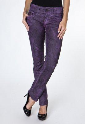 Calça Jeans Calvin Klein Jeans Skinny Resinado Manchas Roxa