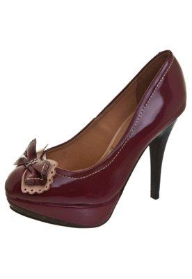 Sapato Scarpin Laço Vinho - Vizzano