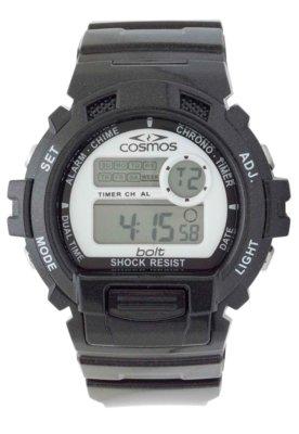 Relógio Cosmos OS40923S Prata/Preto