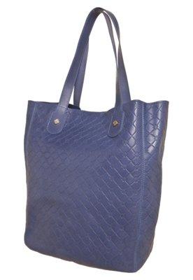 Bolsa Sacola Capodarte Shine Azul