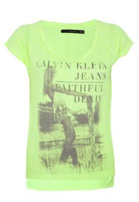 Blusa Calvin Klein Jeans Fluor Country Girl Amarela