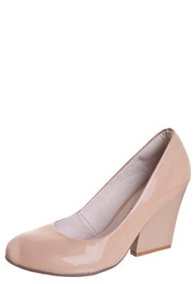 Sapato Scarpin Anna Flynn Brilho Nude