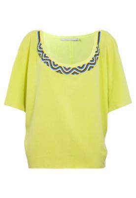 Blusa Espaço Fashion Miçangas Amarelo