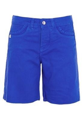 Bermuda Sarja Cantão Boy Bo Azul