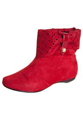 Ankle Boot Vazada Vermelha - Moleca