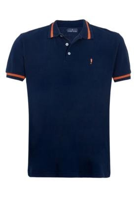 Camisa Polo Pier Nine Filete Azul