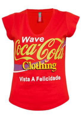 Blusa Coca-Cola Clothing Small Wave Brand Laranja - Coca Col...