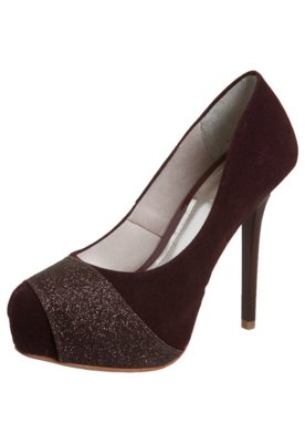 Sapato Scarpin Faixa Glitter Vinho - NightStar