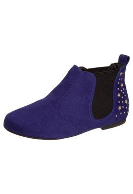 Bota Chelsea Estrelas Hotfix Azul - Moleca