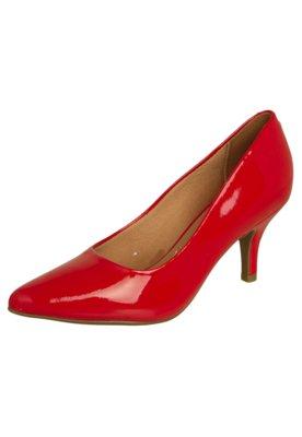 Sapato Scarpin Vizzano Bico Fino Salto Médio Vermelho