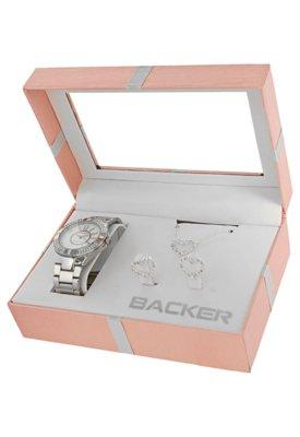 Relógio Backer W 16920025 Prata