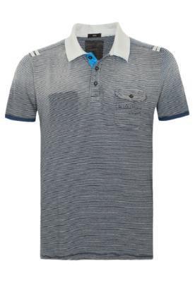 Camisa Polo Calvin Klein Authentic Preta e Azul - Calvin Kle...