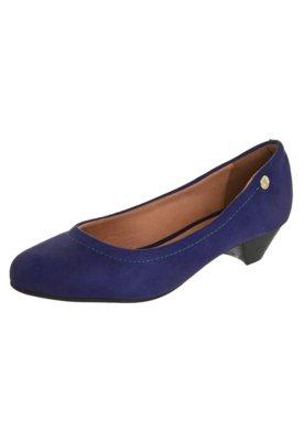 Sapato Scarpin Vizzano Salto Baixo Básico Azul
