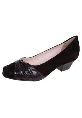 Sapato Scarpin Bottero Nó Salto Baixo Preto