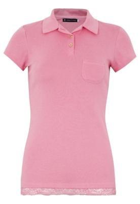 Camisa Polo Anna Flynn Femine Rosa
