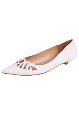 Sapato Scarpin Andarella Fine Branco