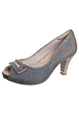 Sapato Scarpin Comfortflex Meia-Pata Salto Amortecedor Fivel...