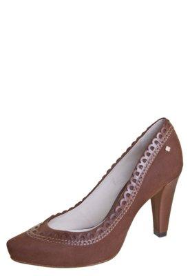 Sapato Scarpin Capodarte Salto Grosso Marrom