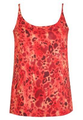 Blusa Colcci Comfort Animal Print Vermelha