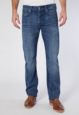 Calça Jeans Standard Ghost Squig Azul - 7 for all mankind