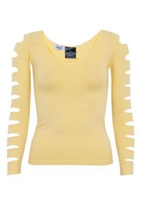 Blusa NightStar Recortes Amarela
