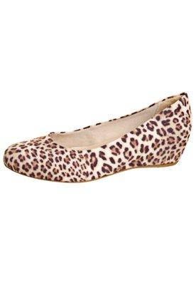 Sapato Scarpin Estampado Onça - FiveBlu