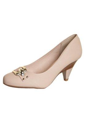 Sapato Scarpin Beira Rio Salto Diferenciado e Tira Nude