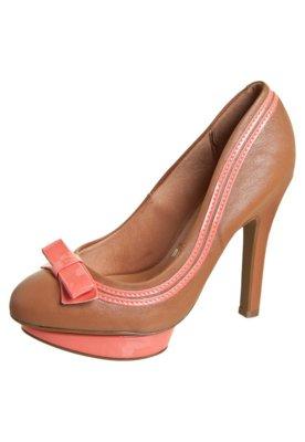 Sapato Scarpin Vizzano Meia-Pata e Laço Marrom