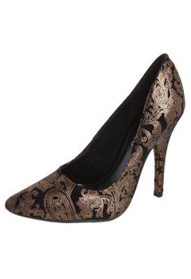 Sapato Scarpin FiveBlu Arabescos Preto