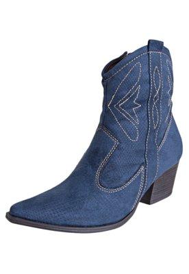 Bota Crysalis Cowboy Texas Azul