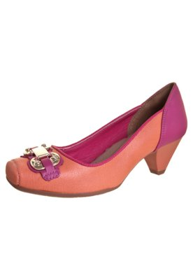 Sapato Scarpin Dakota Salto Médio Fivela Candy Rosa