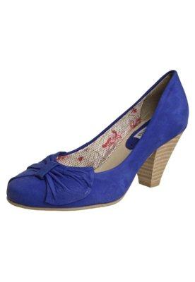 Sapato Scarpin Bottero Salto Médio Leque Azul