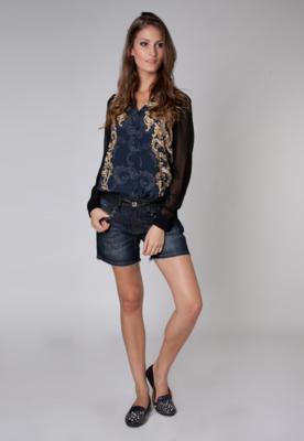 Bermuda Jeans Daria SPikes Azul - Colcci