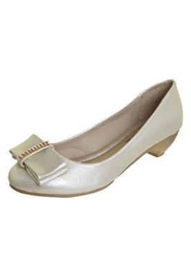 Sapato Scarpin Anna Flynn Laço Dourado